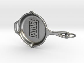 PUBG pan Keychain in Natural Silver (Interlocking Parts)