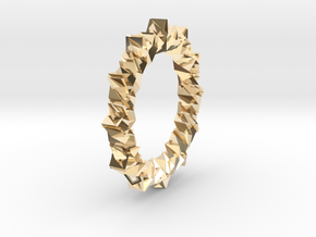 light Reflecting Ring in 14k Gold Plated Brass