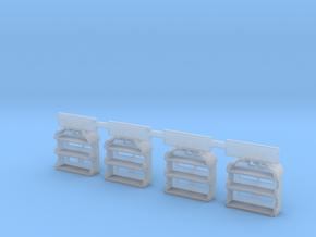 New & Improved HO LV caboose steps in Smoothest Fine Detail Plastic