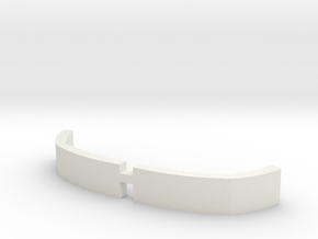 Front Armor  in White Natural Versatile Plastic