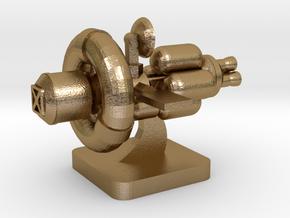 Mini Space Program, Interplanetary Ship 3 in Polished Gold Steel