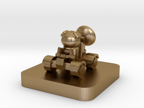 Mini Space Program, Rover Buggy in Polished Gold Steel