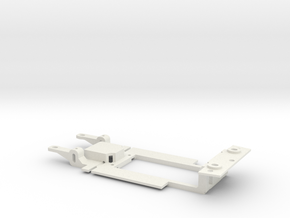 Carrera Universal Chassis Pro Car for 132 M1  in White Natural Versatile Plastic