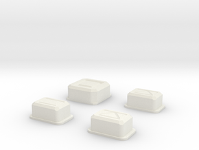 AllButtons in White Natural Versatile Plastic