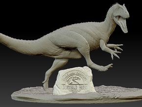 Backyard Terrors Allosaurus Base in White Natural Versatile Plastic