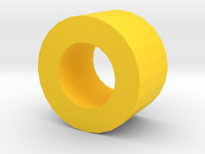 Aerodynic Drive Gear - Budget Spacer in Yellow Processed Versatile Plastic