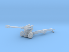 1/87 Scale M198 155mm Howitzer in Smooth Fine Detail Plastic