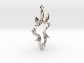 light Reflecting Pendant in Rhodium Plated Brass