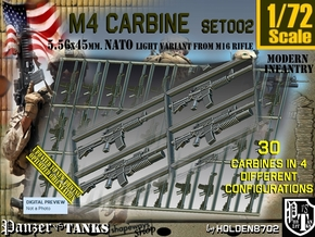 1/72 M4 Carbine Set002 in Smoothest Fine Detail Plastic