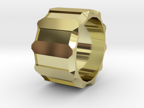 Personal ring in 18k Gold Plated Brass: 8 / 56.75