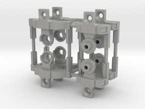 HO articulated joints for Walthers 48' spine car in Aluminum