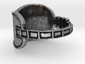 Guitar  Ring  in Antique Silver: 4 / 46.5