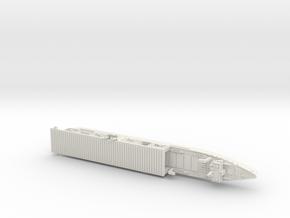 USS Langley 1/1800 in White Natural Versatile Plastic