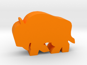 Game Piece, Bison Running in Orange Processed Versatile Plastic