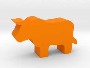 Game Piece, Bull in Orange Processed Versatile Plastic