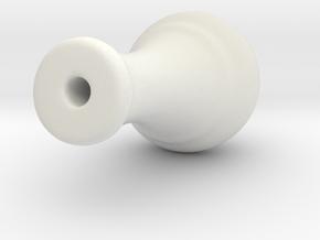 Cord Tassel Wood 14H in White Natural Versatile Plastic