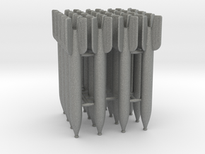 16 M-13 rockets scale 1:16 in Gray PA12