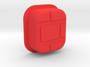 BRCK3D Mech Squonk Button in Red Processed Versatile Plastic
