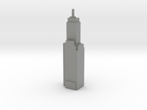 Willoughby Tower - Chicago (1:4000) in Gray PA12
