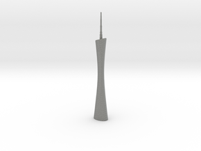 Canton Tower - Guangzhou (1:4000) in Gray PA12