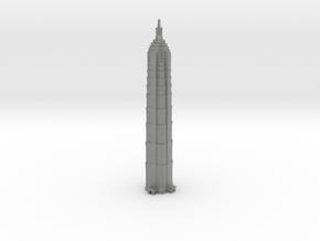 Jin Mao Tower - Shanghai (1:4000) in Gray PA12