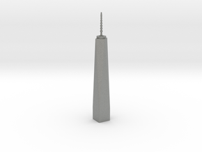 One World Trade Center - New York (1:4000) in Gray PA12
