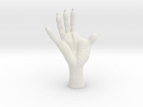 2 inch Opossum Foot- plastic & metal in White Natural Versatile Plastic