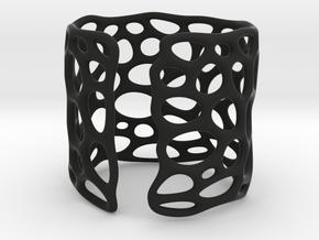 Lattice0104 Cuff 2 in Black Premium Versatile Plastic
