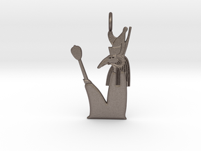 Seth-Amun amulet in Polished Bronzed-Silver Steel
