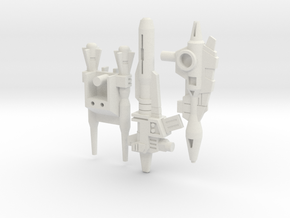 Titans Return Monsterbots' G1 Blasters in White Natural Versatile Plastic