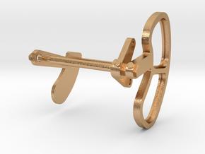 Signal Semaphore Lense Frame & Blinker 1:19 scale in Natural Bronze
