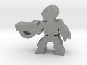 Game Piece, Killer Robot, attack, rifle in Gray Professional Plastic