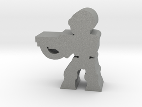 Game Piece, Killer Robot, aim, rifle in Gray Professional Plastic