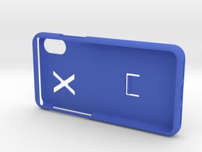 SPC i phone X case in Blue Processed Versatile Plastic