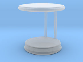 Miniature Rugiano Oblo Side Table - Rugiano in Smooth Fine Detail Plastic: 1:12