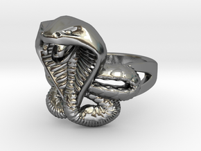 cobra commander ring in Polished Silver: 10 / 61.5