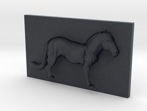 HorseLeopard Caricature (001) in Black Professional Plastic