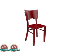 Miniature Chair fameg - Fameg in White Natural Versatile Plastic: 1:24