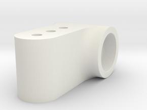 Rear Lowering Hub  in White Natural Versatile Plastic