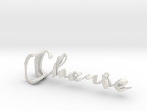 3dWordFlip: Cherie/James in White Natural Versatile Plastic