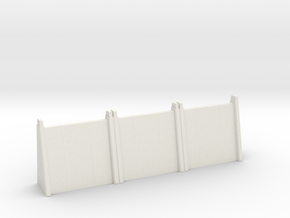 Large Wall Section in White Natural Versatile Plastic: 1:200