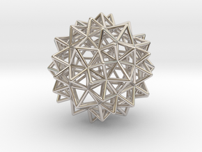 """Stellated Rhombicosidodecahedron 2"""" in Platinum"""