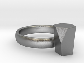 Scutoid Packing Ring  in Natural Silver: 4 / 46.5