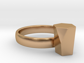 Scutoid Packing Ring  in Polished Bronze: 4 / 46.5