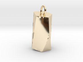 Scutoid Pendant - Version 2 (hollow) in 14k Gold Plated Brass