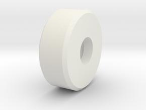 sls-narrow-sm-roller in White Natural Versatile Plastic