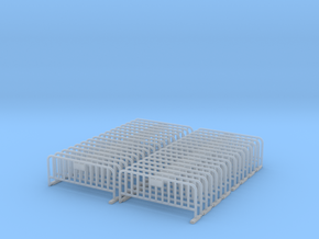 Barrier 01 (portable fence). Scale HO (1:87).  in Smooth Fine Detail Plastic