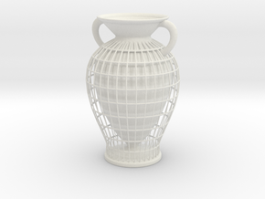 Vase 10233 (downloadable) in White Natural Versatile Plastic