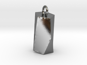 Scutoid Pendant - Version 2 (solid) in Polished Silver