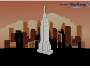 Empire State Building - New York (3 inch) in White Natural Versatile Plastic